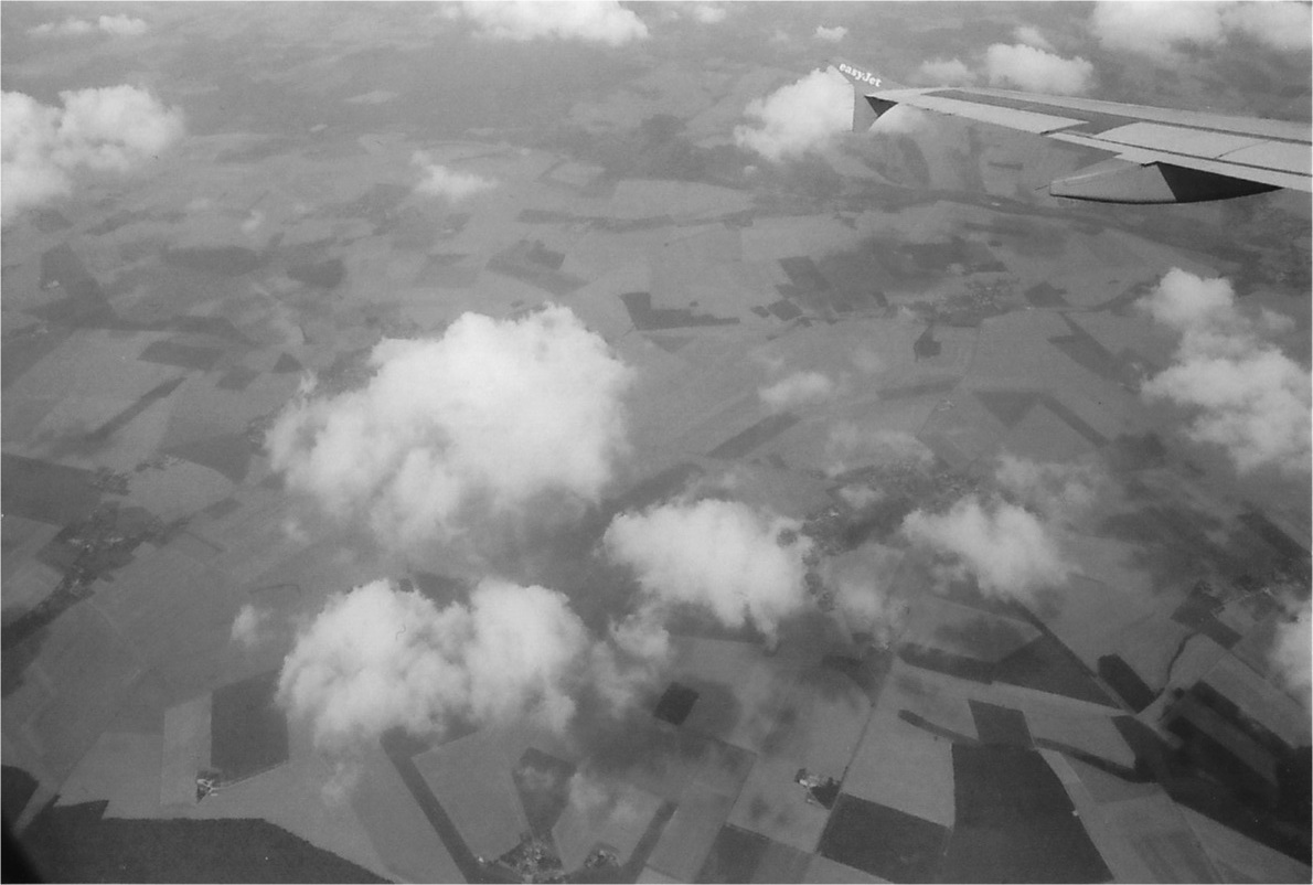 Film photos from plane window