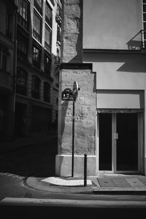 Parisian Street signs photo light shadow