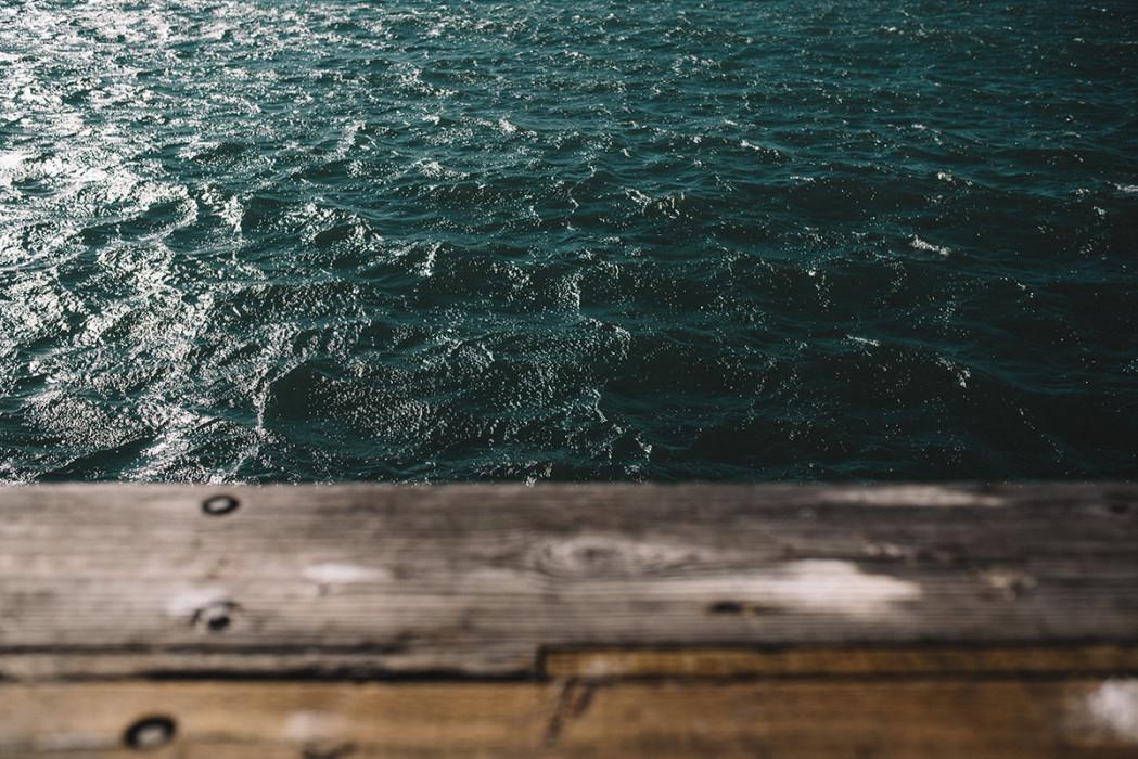 Santa Barbara pier waves