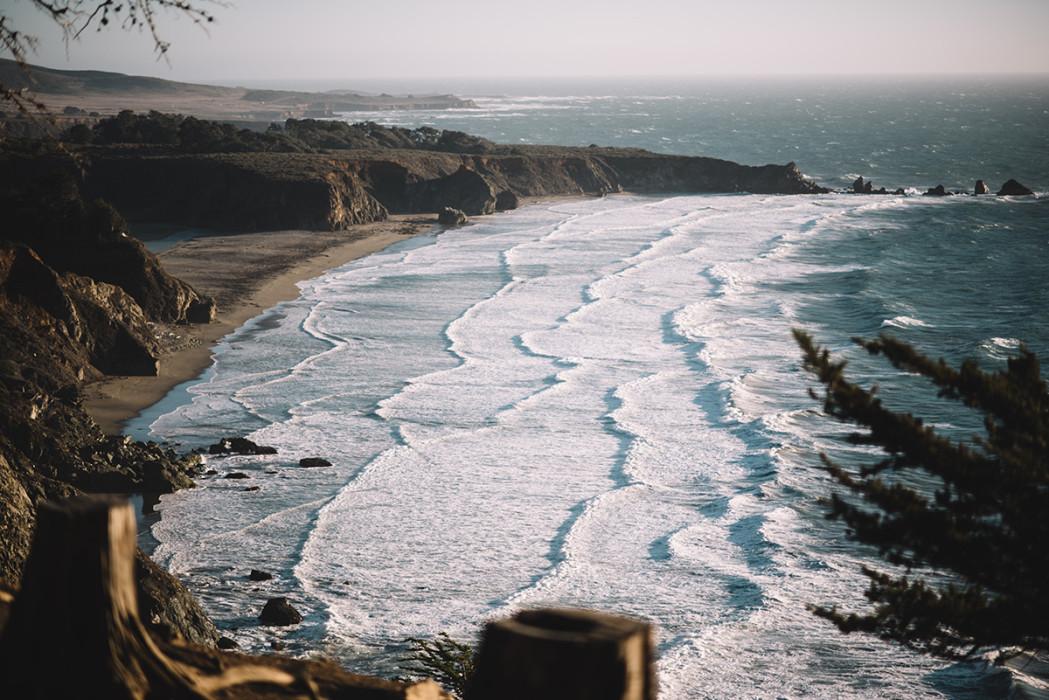 Big Sur waves coastline