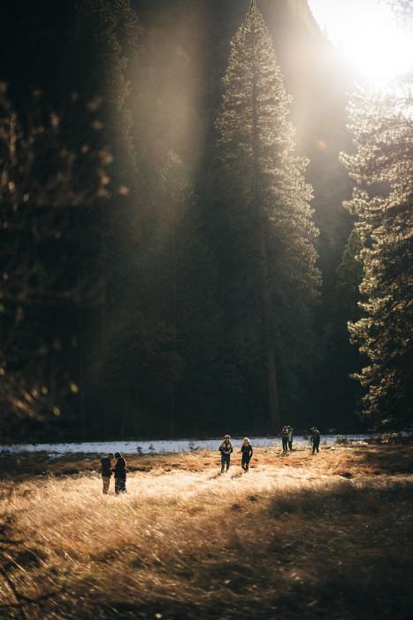 Yosemite valley floor sunset