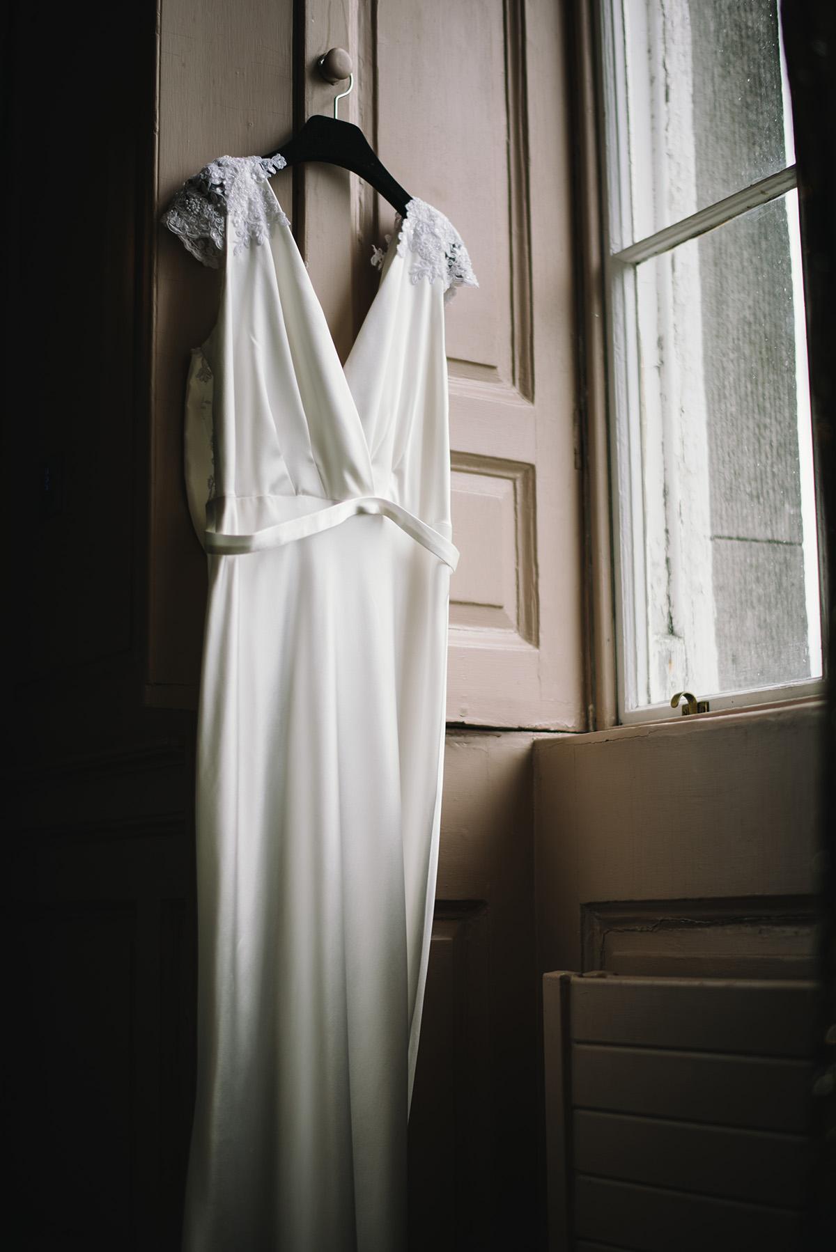 brides dress Bellinter House Wedding Photographer