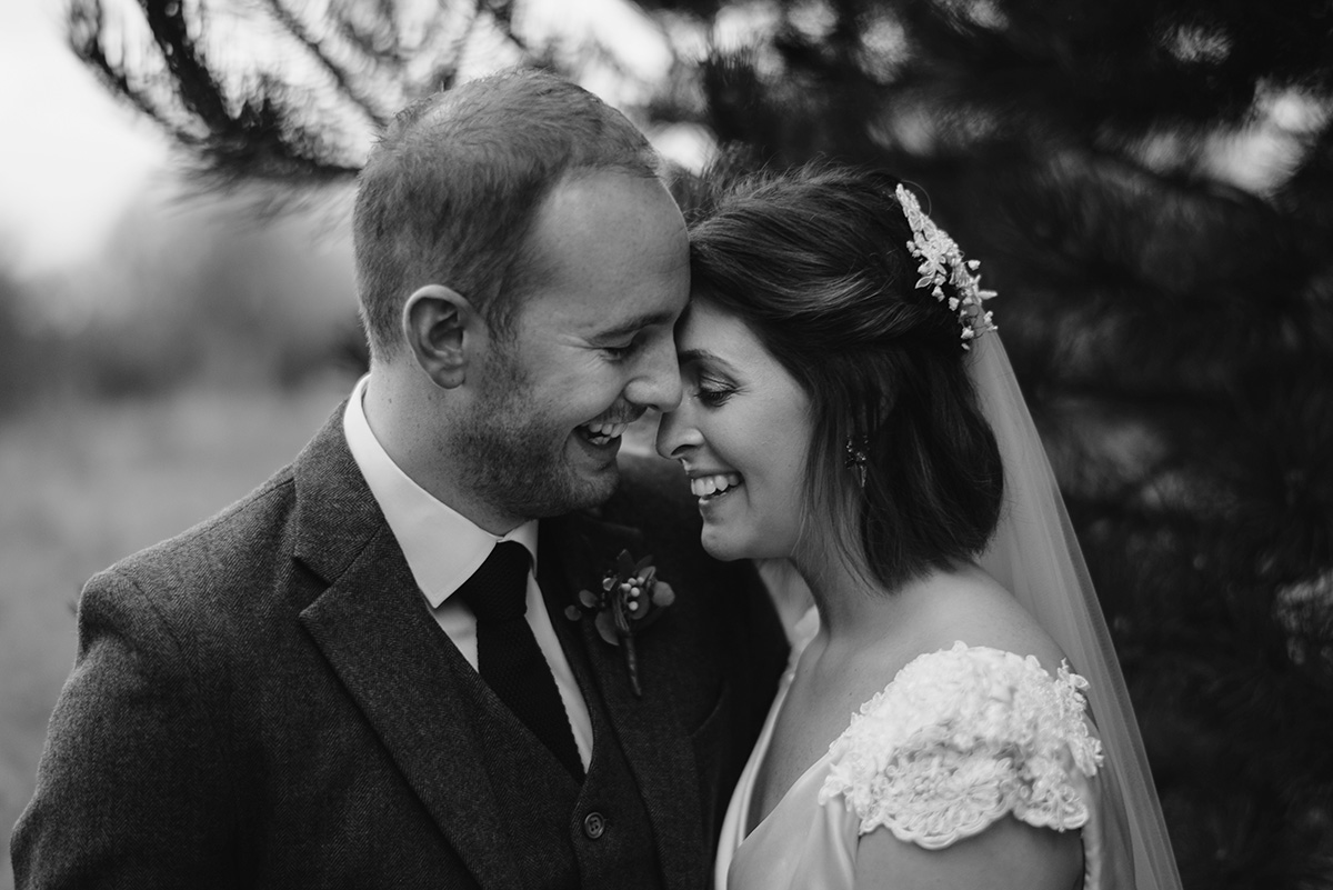 bride and groom happy natural portrait Bellinter House Wedding Photographer