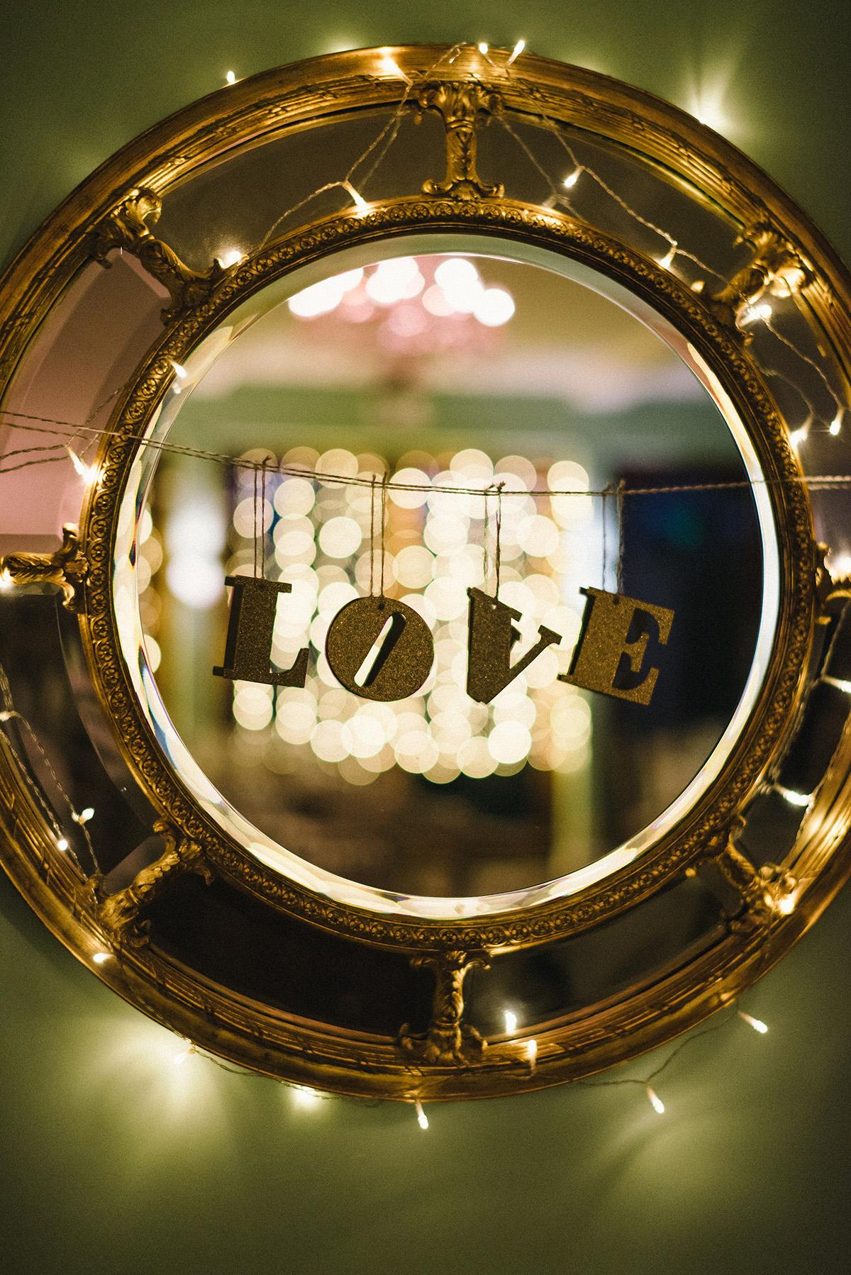Love room decor Bellinter House Wedding Photographer