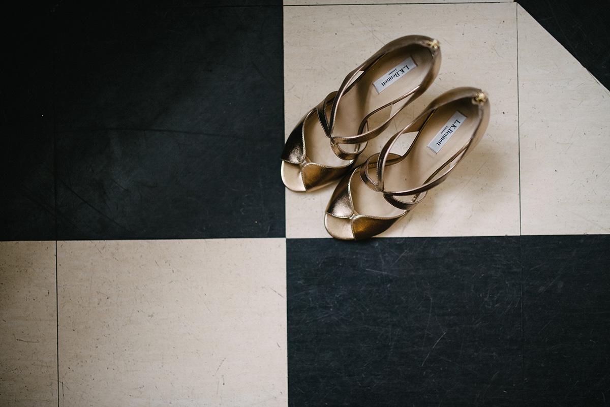 brides shoes details NYE Wedding at Bellinter House Bellinter House Wedding Photographer