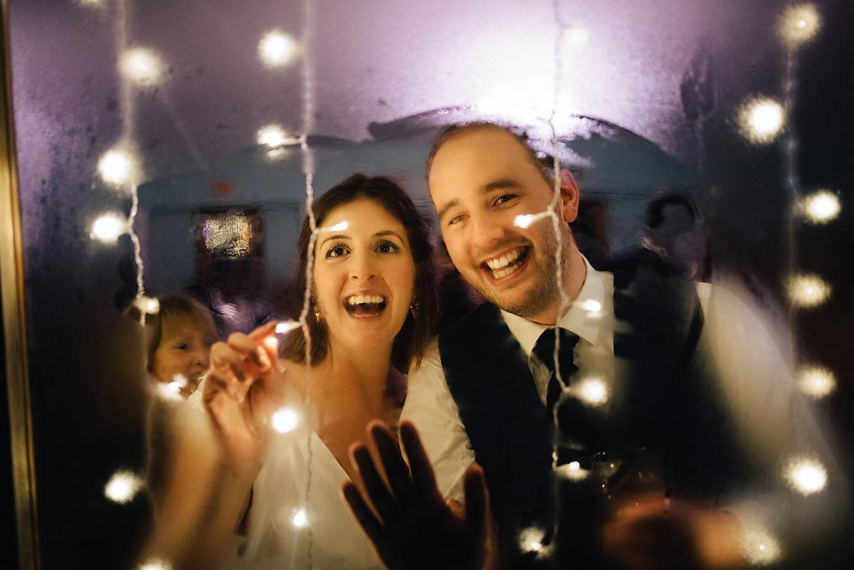 bride and groom steamy window Bellinter House Wedding Photographer