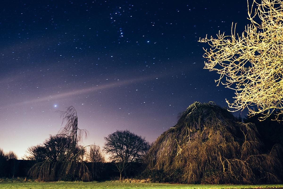 New years eve starry sky Bellinter House Wedding Photographer