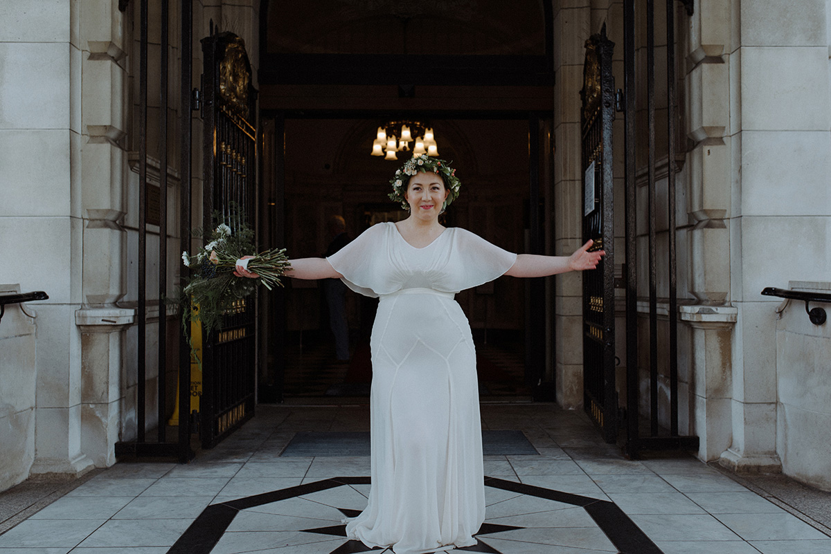city hall wedding photographer northern ireland Belfast Bride