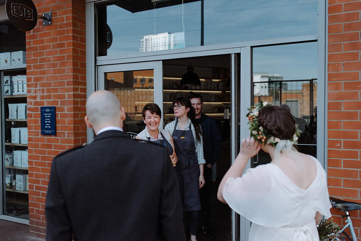 established coffee belfast wedding photographer