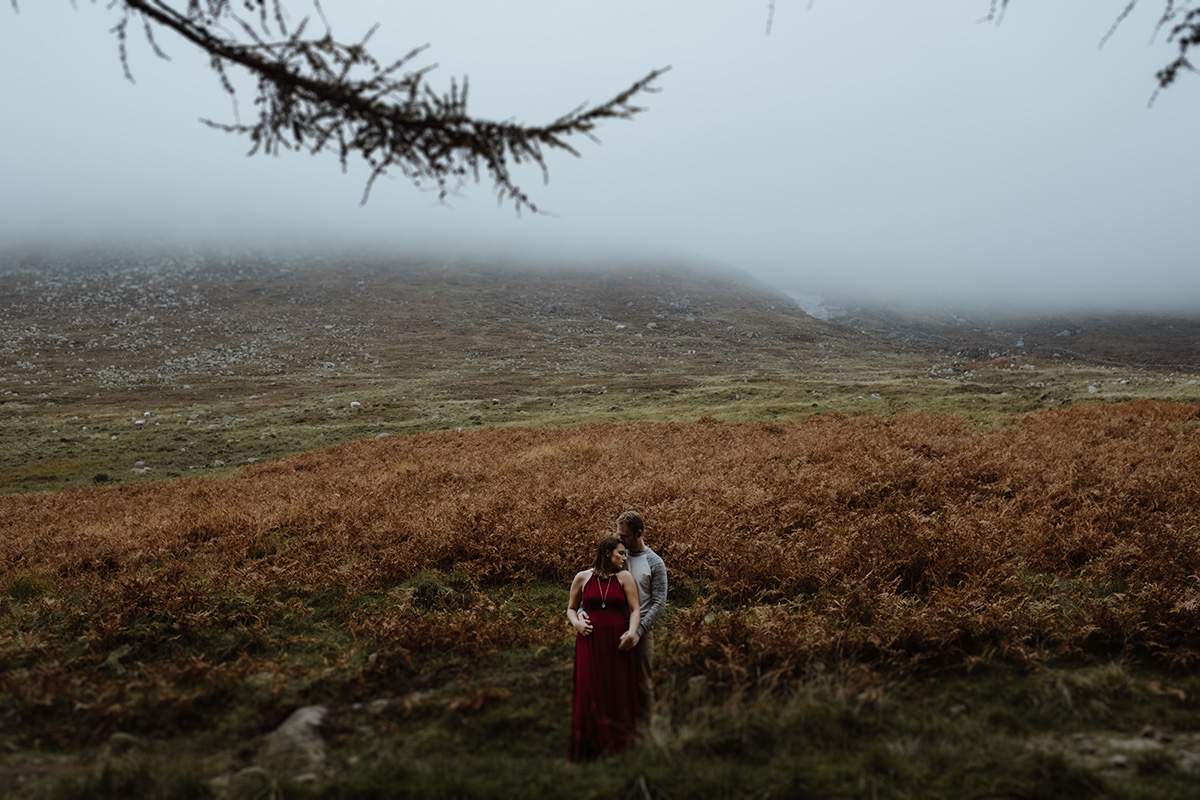 epic mountain portrait Slieve Binnian engagement shoot photographer northern ireland