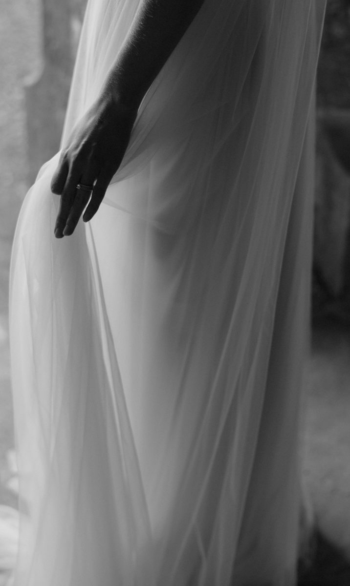 brides dress detail at The West Wing Crom Castle Wedding Photographer