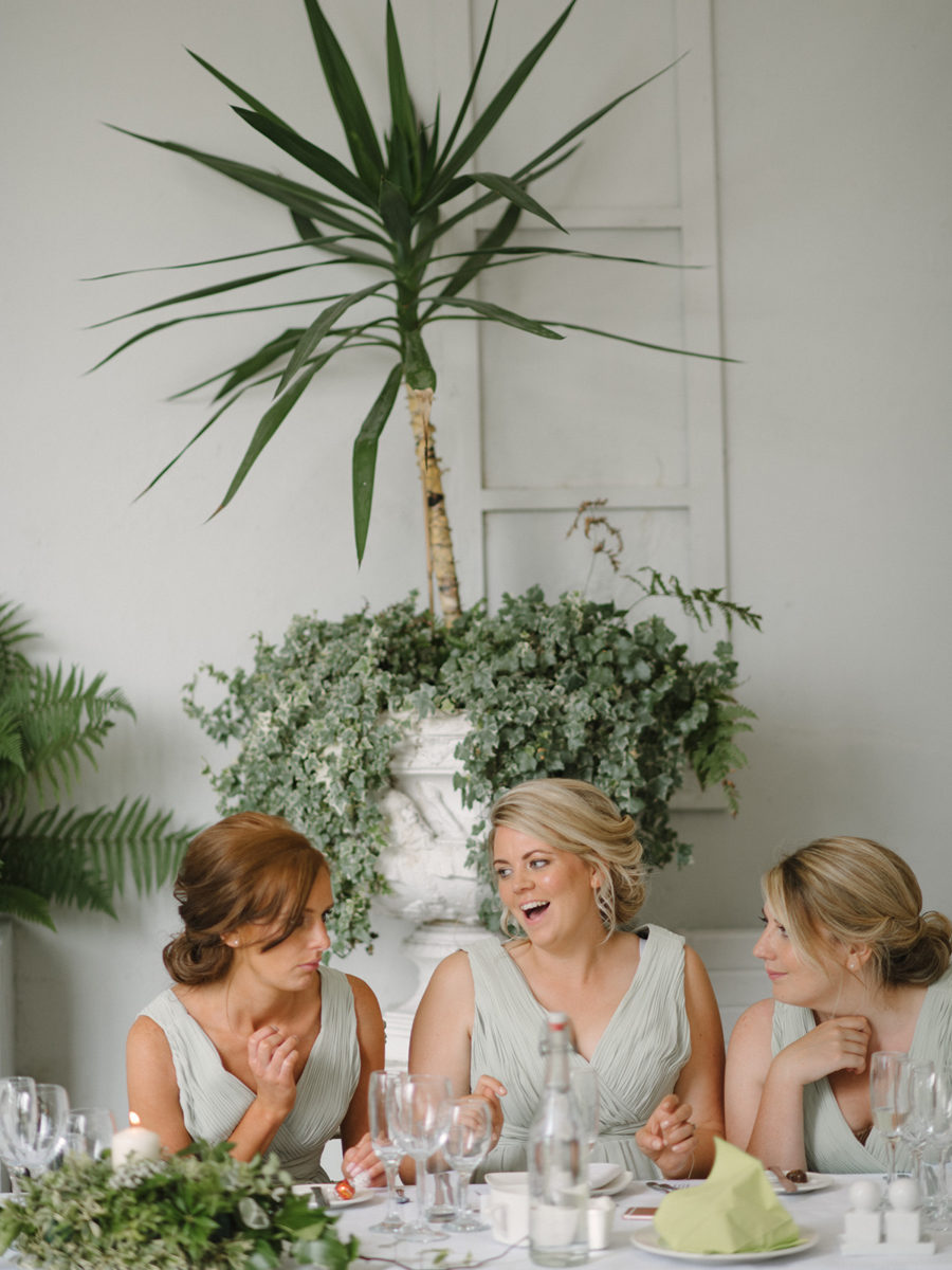 natural photo of bridemaids laughing Crom Castle Wedding Photographer