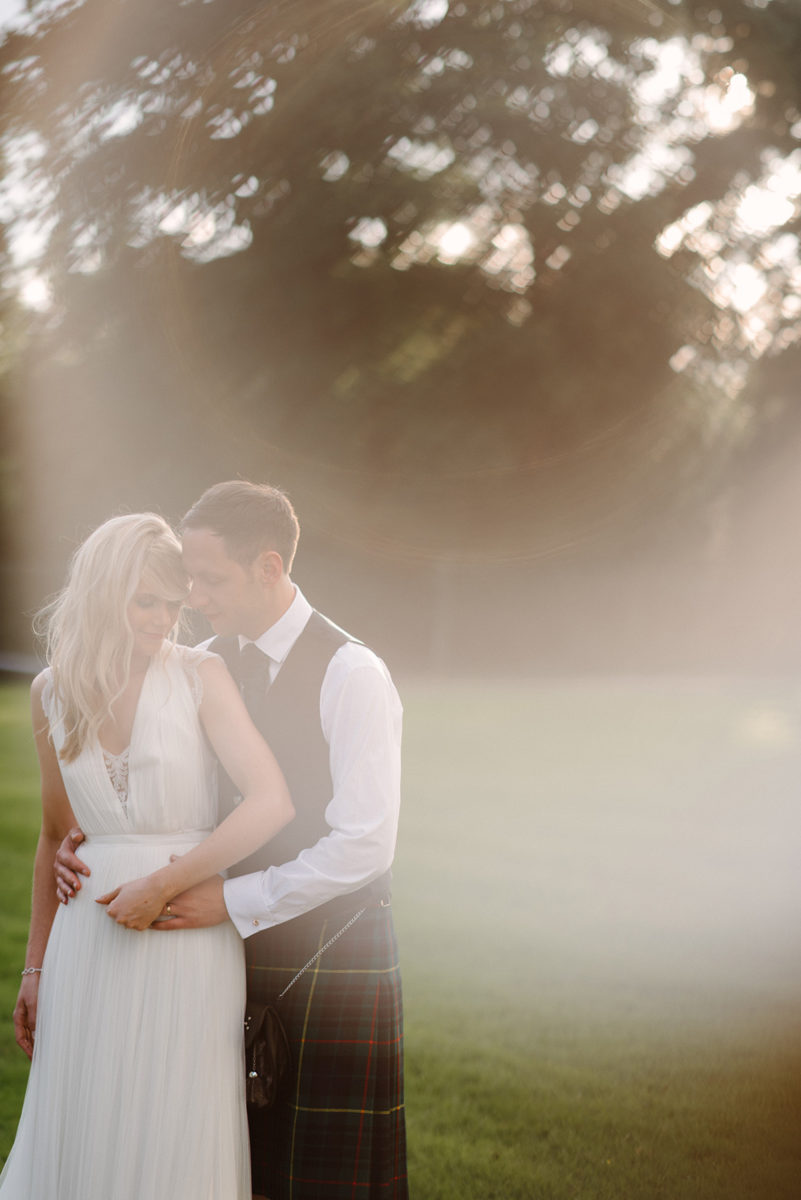 bride and groom portrait Crom Castle Wedding Photographer
