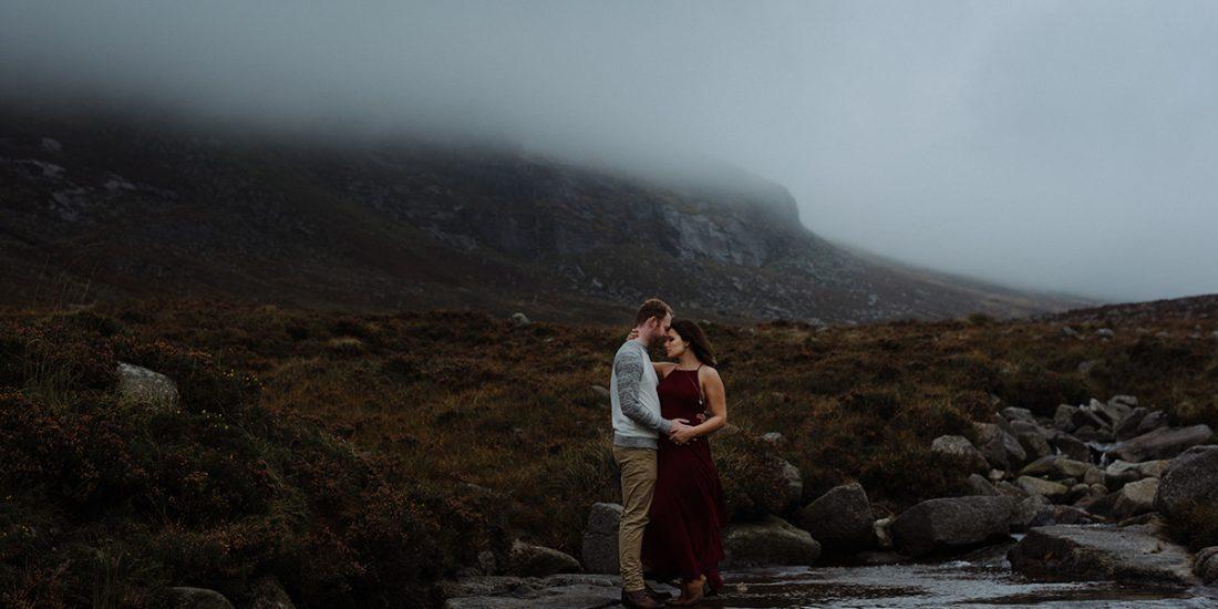 epic portrait of couple creative wedding and elopement photographer