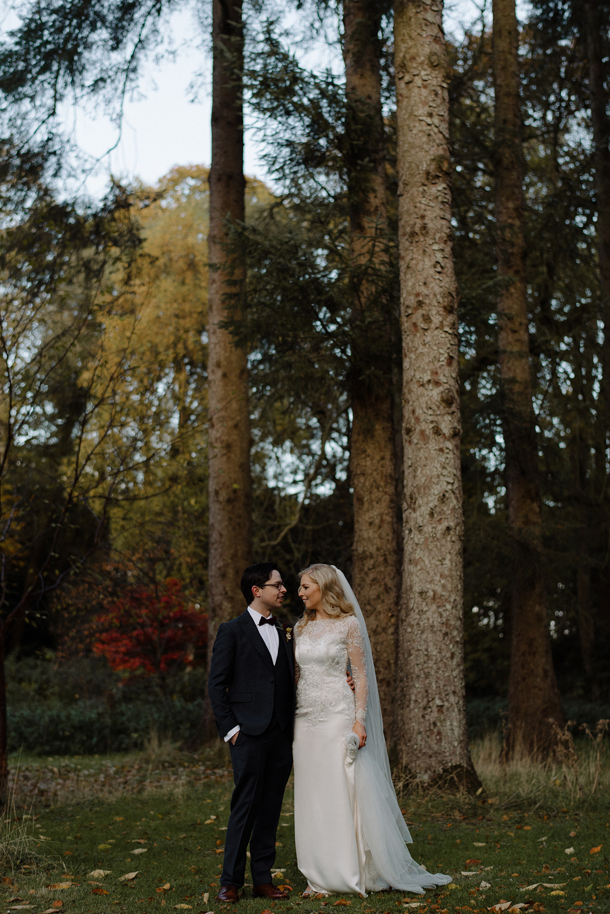 bride and groom natural portrait larchfield estate wedding photographer