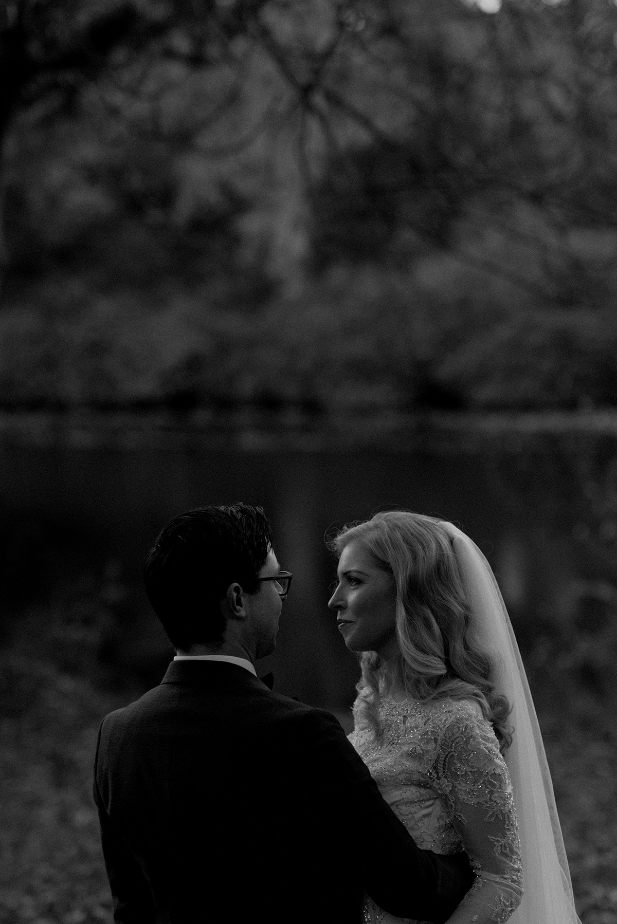 bride and groom timeless portrait alternative wedding photography larchfield estate