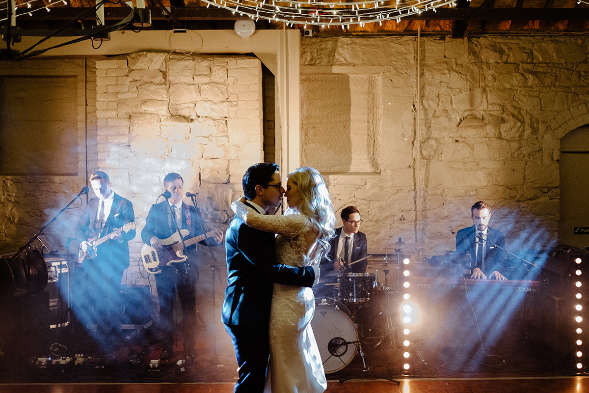 bride and groom first dance Larchfield Estate Wedding Photographer