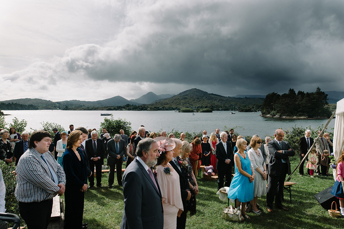 outdoor wedding ceremony Glengariff Cork Wedding Photographer