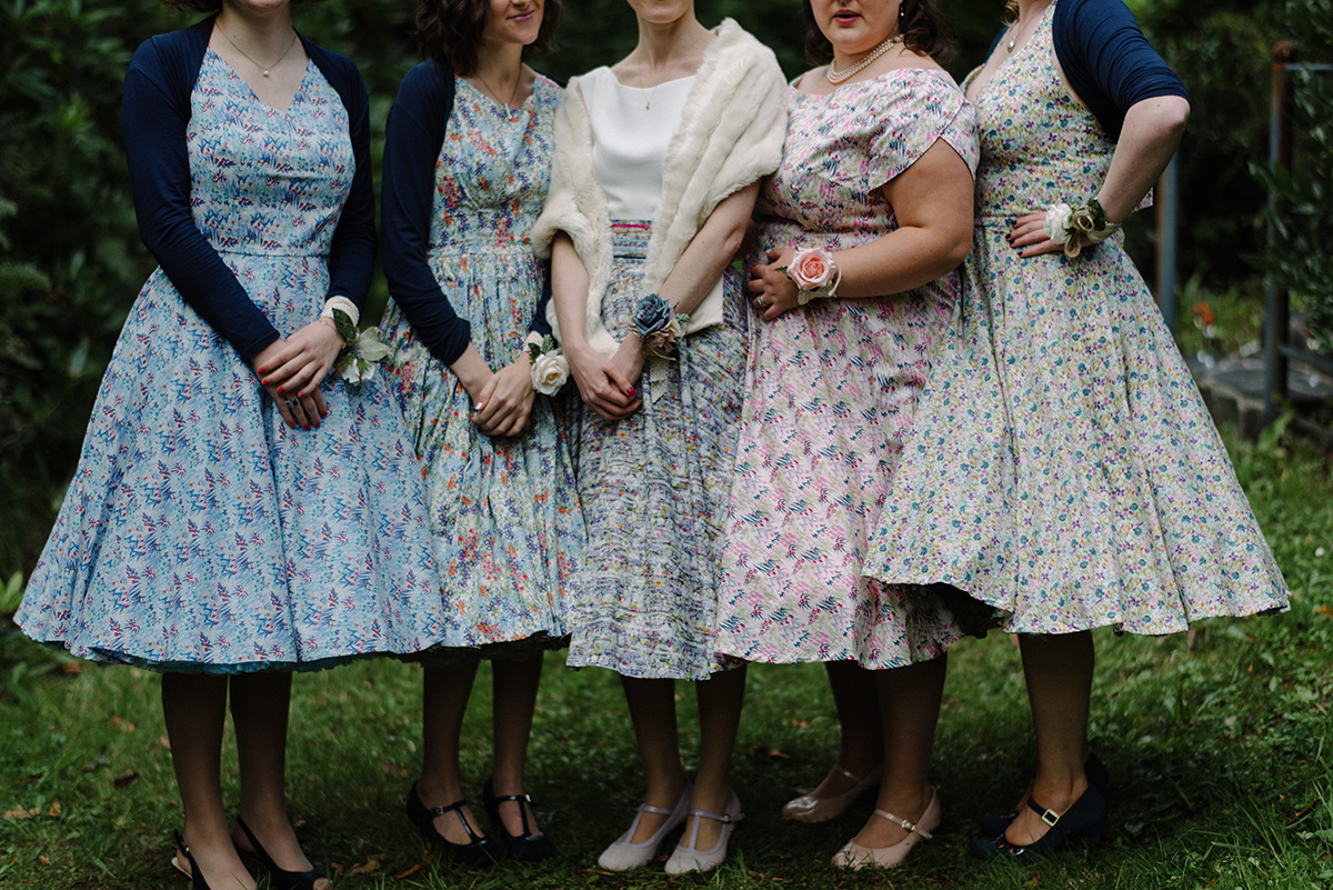 bridesmaids dresses detail Cork Wedding Photographer