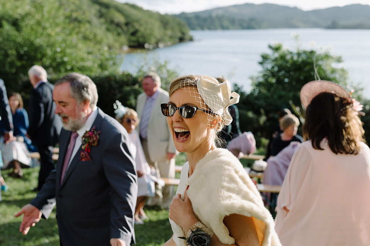 Silver Birch House Wedding bride reaction photographer