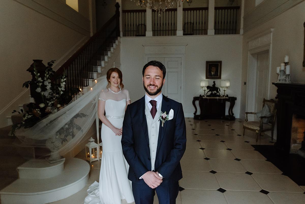 Clonwilliam House documentary wedding photographer first look
