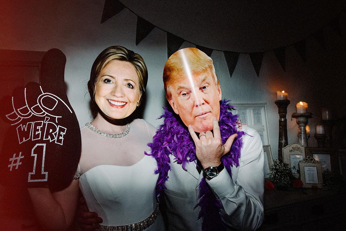 hillary clinton donald trump wedding photo