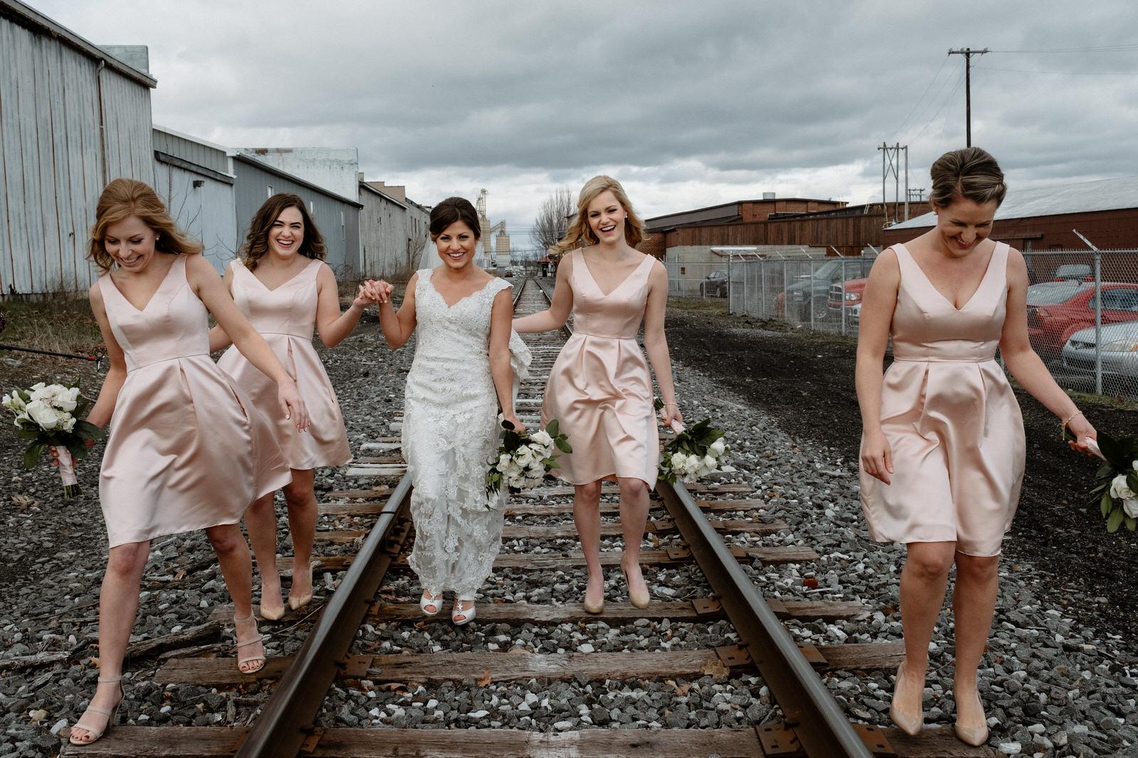 Philadelphia wedding bridemaids