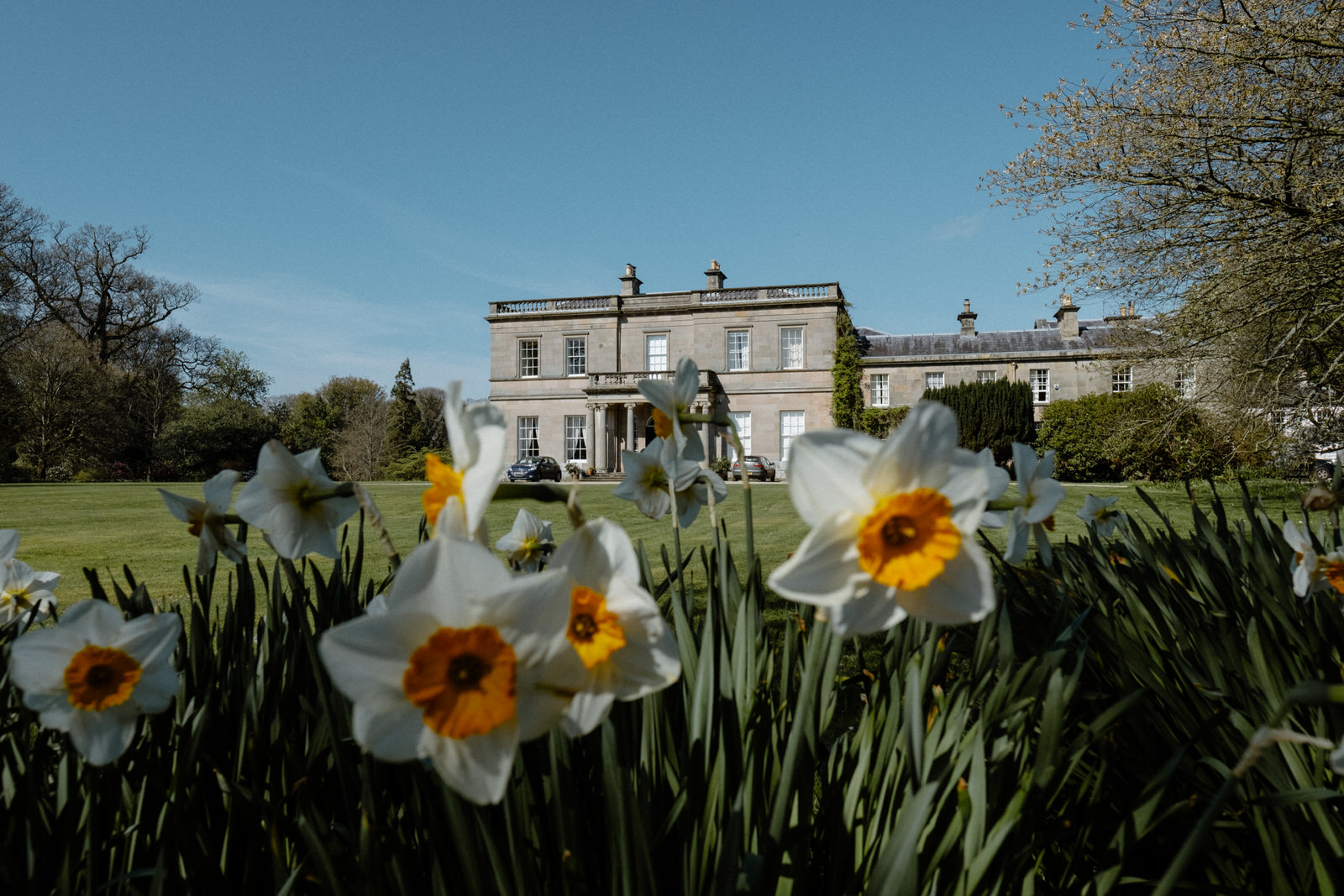 Drenagh Estate exterior of main house wedding photographer