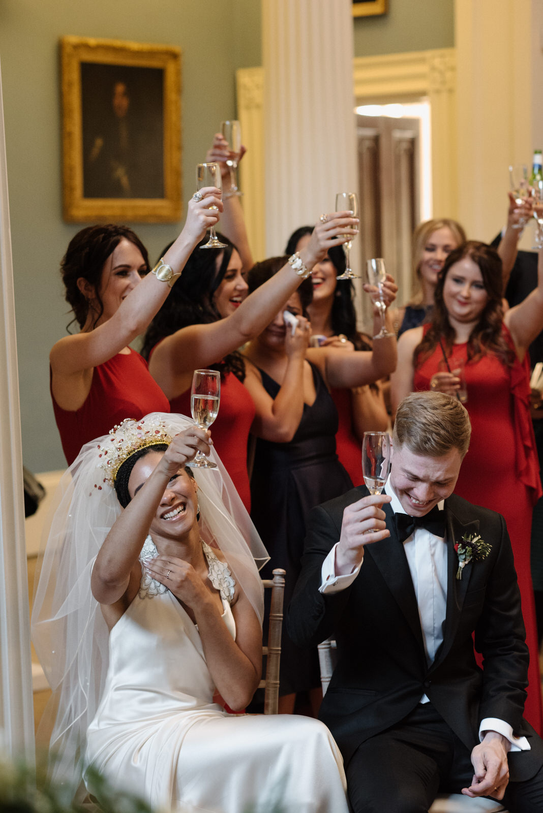 di caprio cheers toast gatsby wedding photo