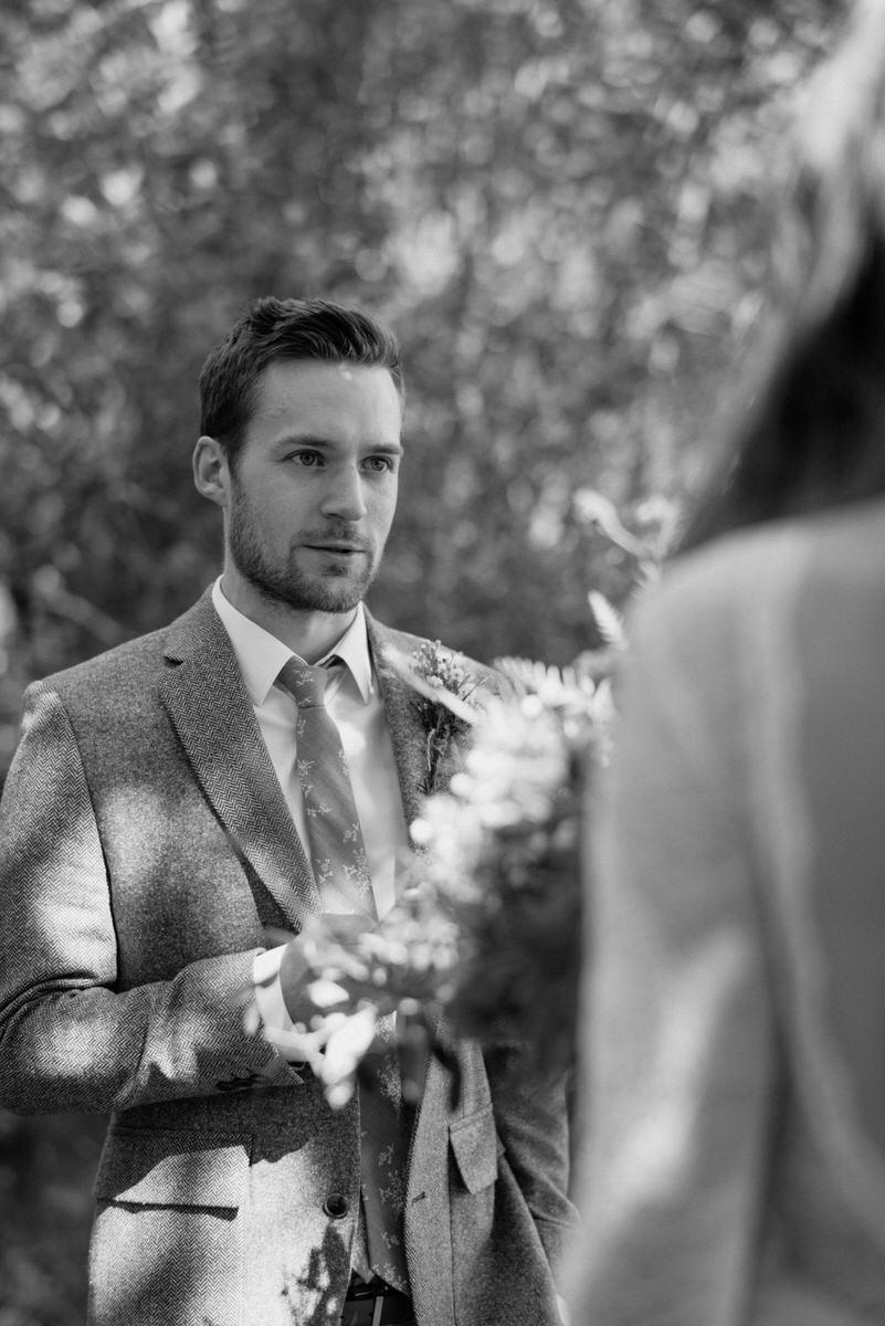 Intimate wedding vows