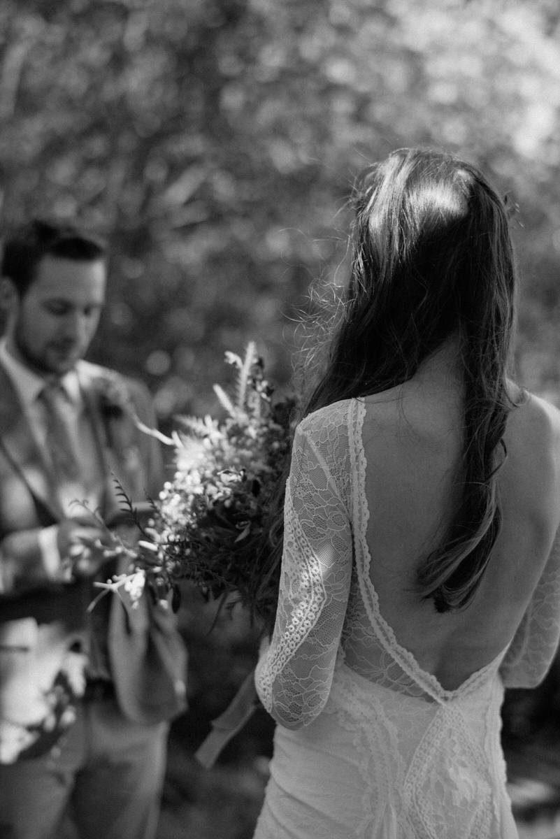 Intimate private wedding ceremony