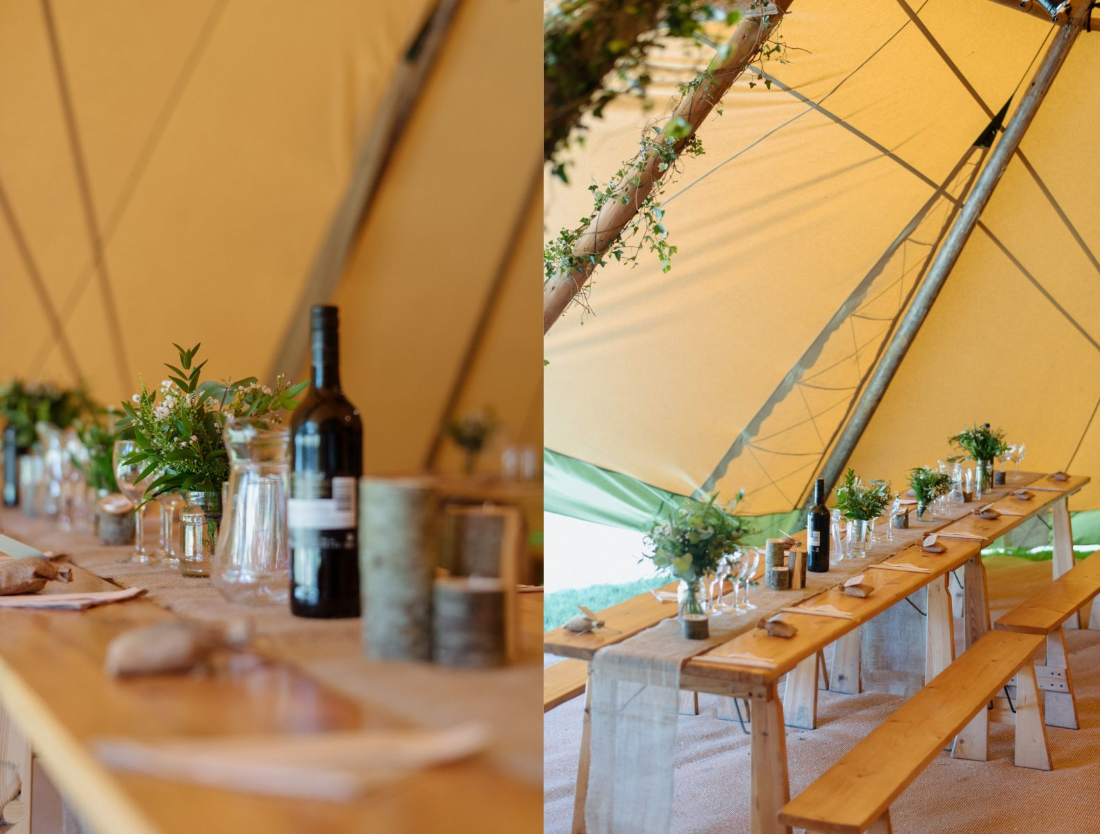 Finnebrogue Woods marquee details Wedding photographer
