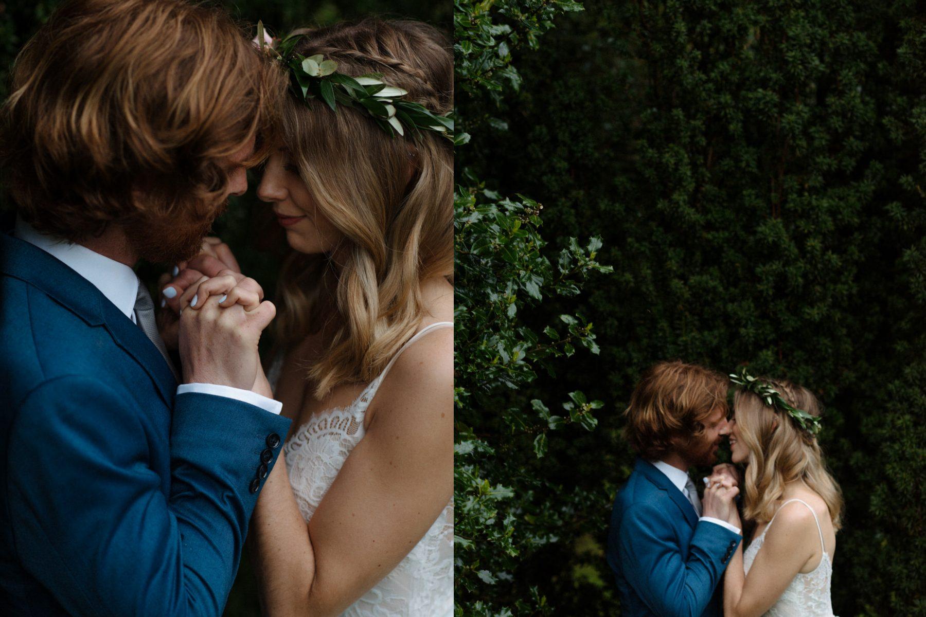 intimate couple portrait by Alternative Lime Park Wedding Photographer northern ireland