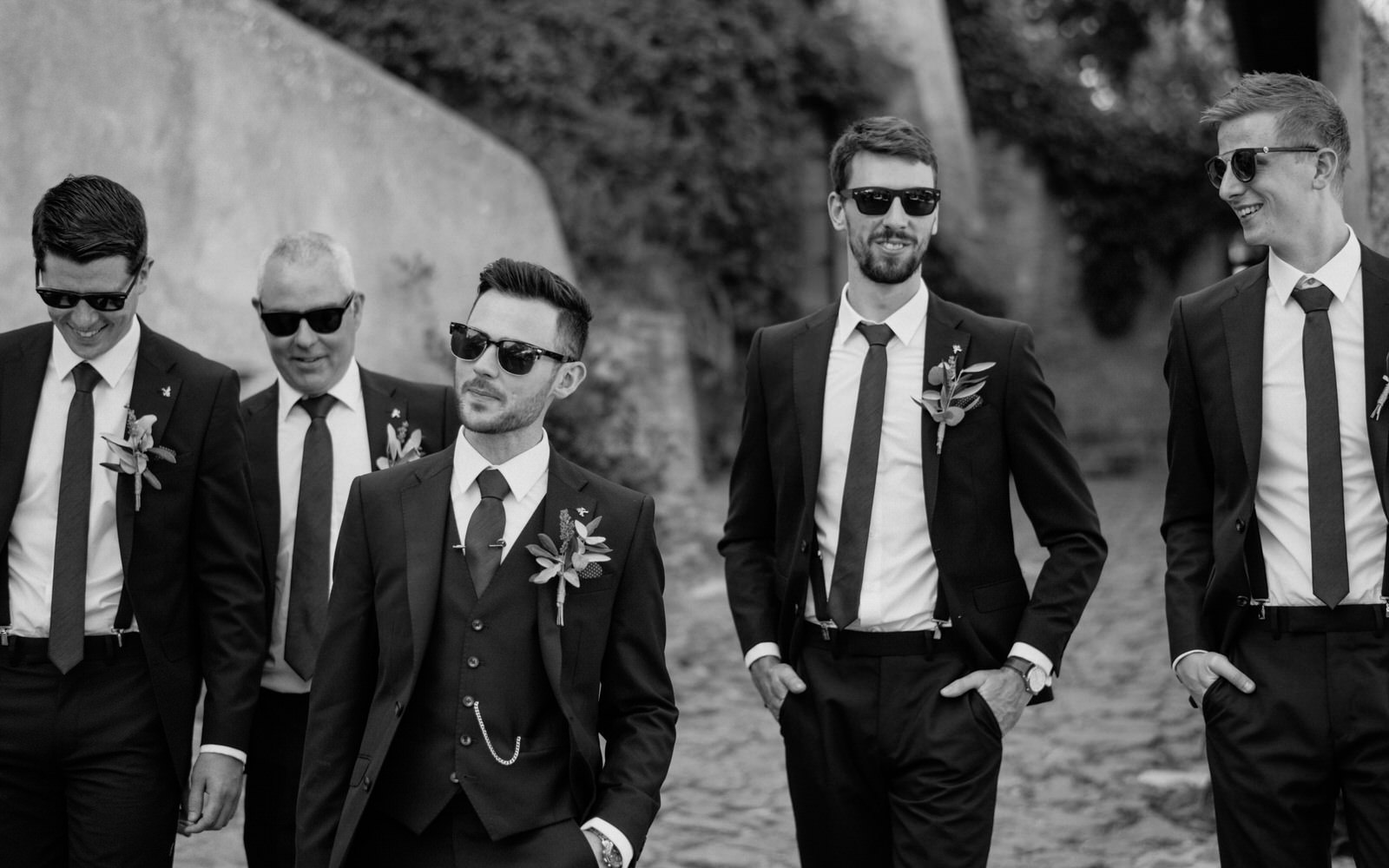 borgo di tragliata Wedding groomsmen