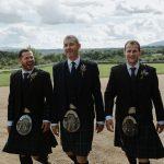 groom and groomsmen in kilts borris house wedding photographer