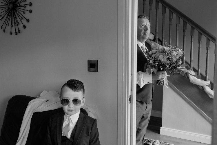 dad fed up waiting on bride eye roll belfast documentary wedding photographer