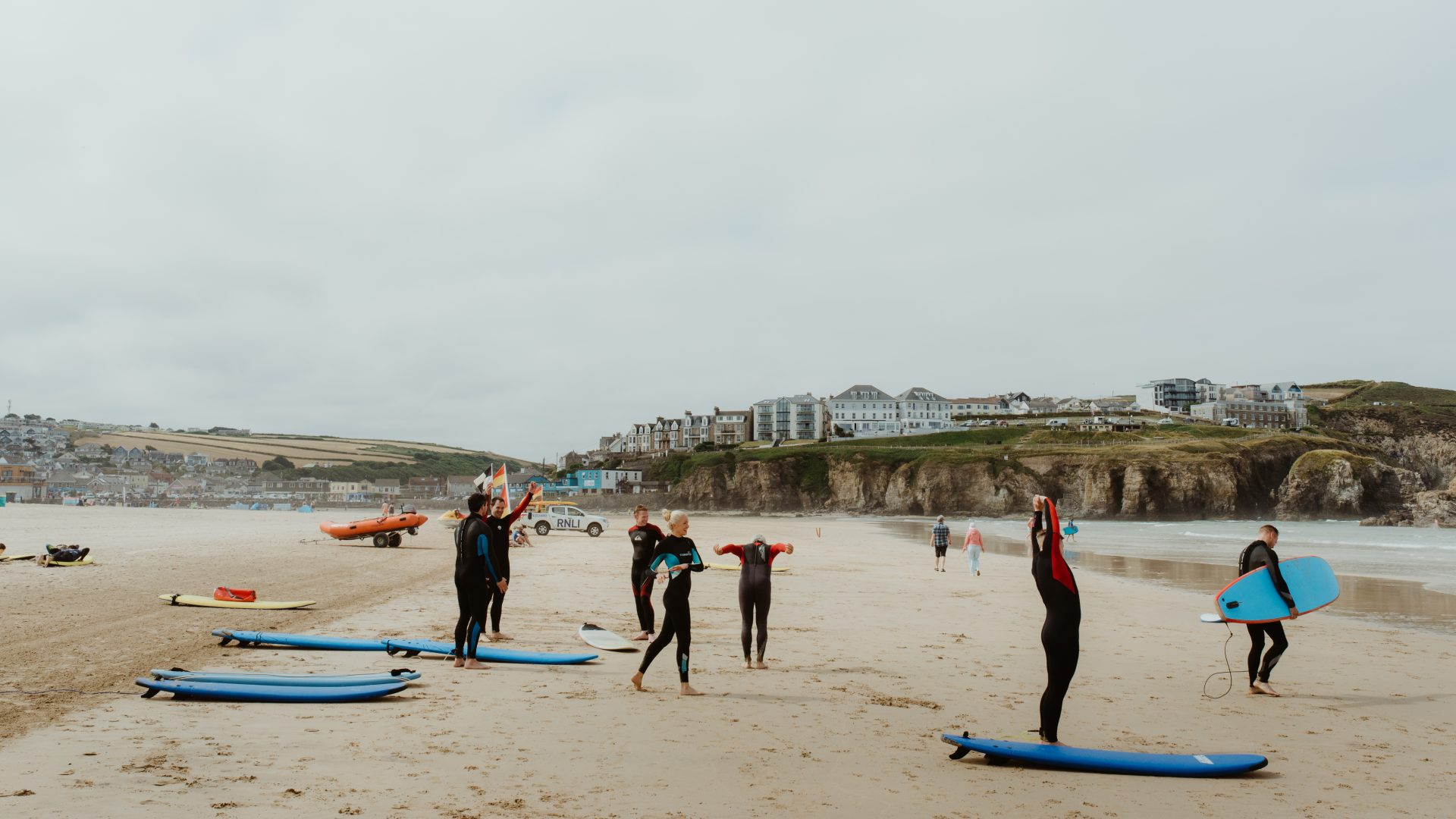 Surfing Portscatho beach