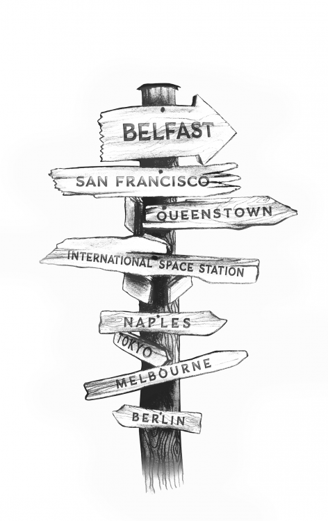 travel sign illustration wedding photographer