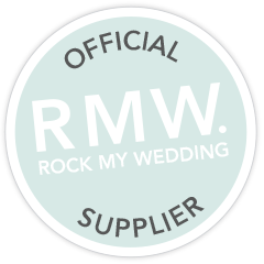 rock my wedding official supplier badge chris copeland