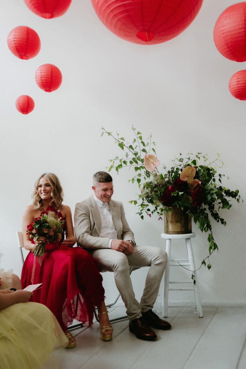 humanist wedding ceremony dublin MART art gallery wedding photographer