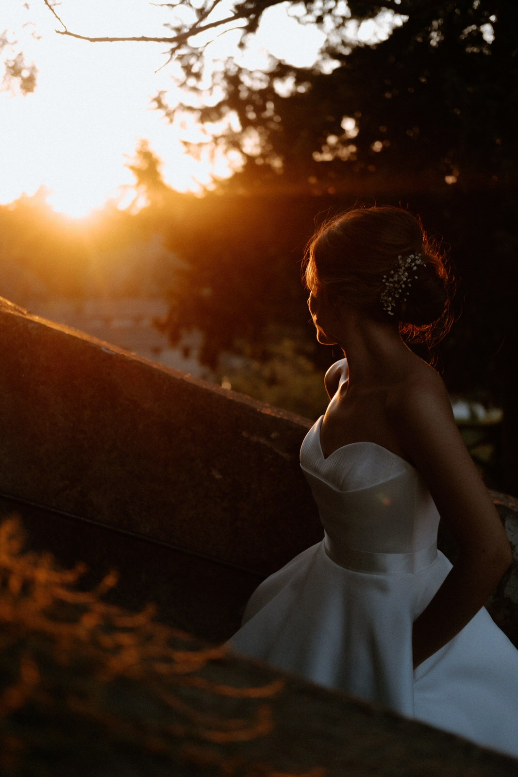 Borgo di Tragliata wedding photographer bride sunset