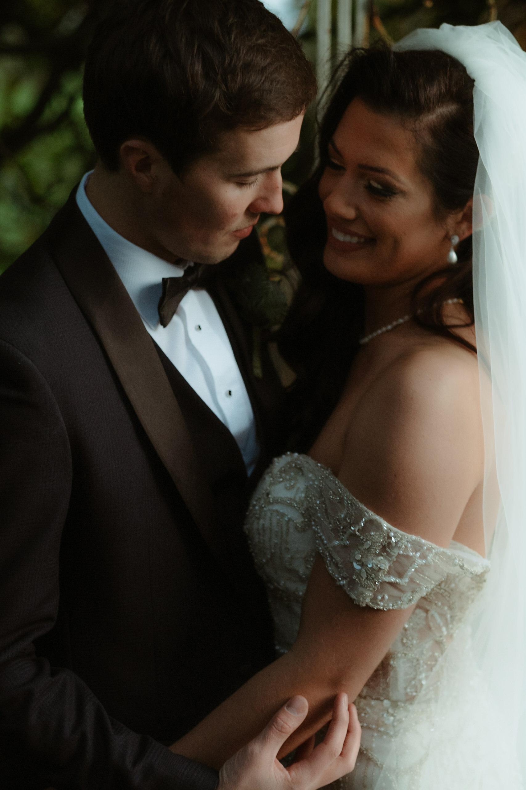 intimate bridal couple portrait Ballymagarvey Village Wedding Photographer